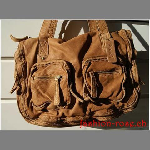Echtledertasche  GINA in True Tan