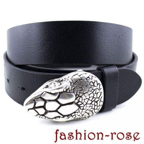 *Trendy snake head* Wechselschnalle & Ledergürtel Classico Made in Italy