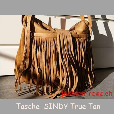Damenhandtasche in Echtleder SINDY in True Tan