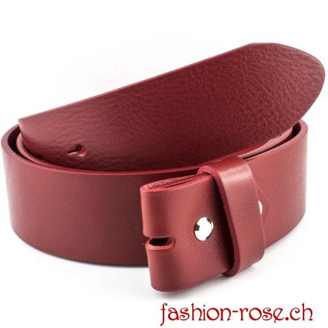 "CLASSICO - ""der must-have"" high Quality Wechselgürtel in Rot, MADE IN ITALY"
