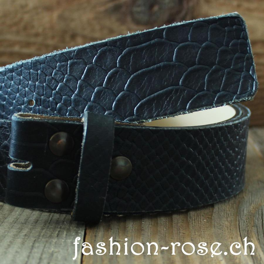 Ledergurt dark blue dunkelblau Wechselgurt Leather